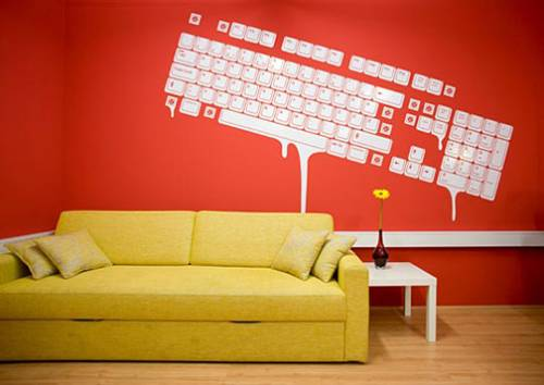 Graphic design wall art