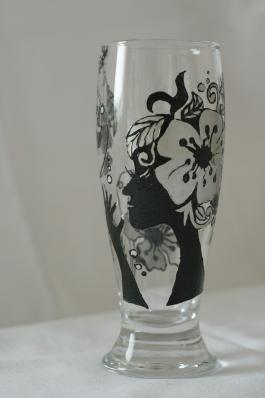 Рисунок на вазу своими руками